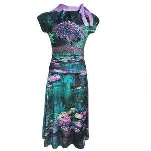 Retrolicious 50's Pin-Up Monet Floral Swing Dress